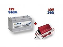 Výhodný set Trakční baterie VARTA Dual Purpose 90Ah, 12V, 930090080 a multifunkční Nabíječky Fairstone ABC-1210D (930090080)