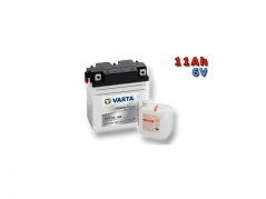Motobaterie VARTA 6N11A-3A, 11Ah, 6V (E5676)
