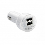 Dvojitá USB nabíječka 2.1m biela (USB100W)