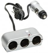 Roztrojka do zapalovače 12V stříbrná (3501026)