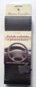 Kožený potah volantu Mária Cavallo černo-tmavošedý (0-1-1-1-1-1-1)