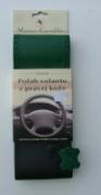 Kožený potah volantu Mária Cavallo černo-zelený (0-1-1-1-1-1)