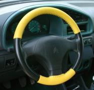 Kožený potah volantu Mária Cavallo černo-žlutý (0-1-1-1-1-1-1)