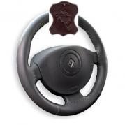 Kožený potah volantu Mária Cavallo hnědý (30183-1-1-1)