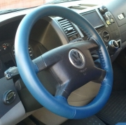Kožený potah volantu Mária Cavallo modrý (30183-1-1-1-1)