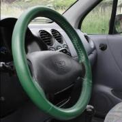 Kožený potah volantu Mária Cavallo zelený (30183-1-1-1-1-1)