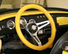 Kožený potah volantu Mária Cavallo žlutý (30183-1-1-1-1-1-1)