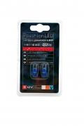 LED autožárovky T10 5W 12V, modré (LED100A)