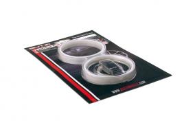 Okrasné pásy na disky stříbrné (BZA56SV)