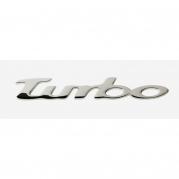 """Emblém """"TURBO"""" chrom, 20 x 100 mm (LOG1564)"""