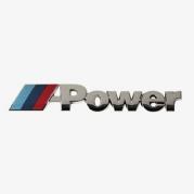 "Emblém ""M POWER"" chrom, 22 x 142 mm (LOG1586)"