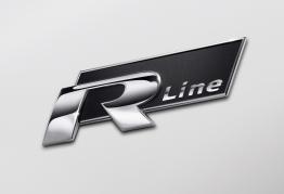 "Emblém ""R-LINE"" chrom/černý, 78 x 24 mm (LOG1934)"