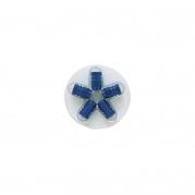Šestihranné hliníkové čepičky na ventily, modré (4006925)