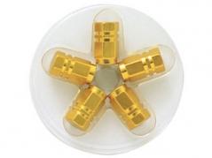 Šestihranné hliníkové čepičky na ventily, zlaté (4006950)