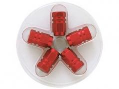 Šestihranné hliníkové čepičky na ventily, červené (4006975)