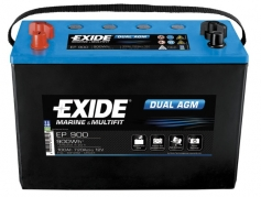 Trakční baterie EXIDE DUAL AGM, 100Ah, 12V, EP900 (EP900)