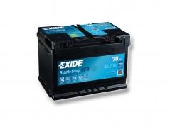 Autobaterie EXIDE Start-Stop EFB 70Ah, 720A, 12V, EL700 (EL700)
