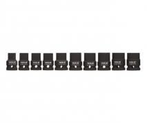 """Sada nadstavcov 1/2"""" rázové šesťhranných 10 ks 10-22 mm CrMo (YT-1025)"""