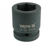 """Nadstavec 1"""" rázový šesťhranný 36 mm CrMo (YT-1191)"""