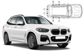 Sluneční clony na okna - BMW X3 (2017-) - Komplet sada (BMW-X3-5-C)