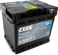 Autobaterie EXIDE Premium 53Ah, 540A, 12V, EA530 (EA530)