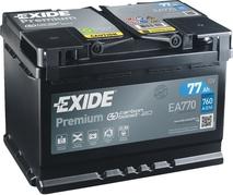 Autobaterie EXIDE Premium 77Ah, 760A, 12V, EA770 (EA770)