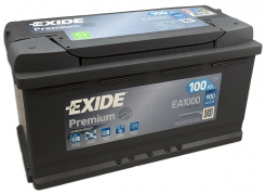 Autobaterie EXIDE Premium 100Ah, 900A, 12V, EA1000 (EA1000)