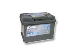 Autobaterie EXIDE Premium 61Ah, 600A, 12V, EA612 (EA612)