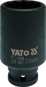 """Nadstavec 1/2"""" rázový dvanásťhranný hlboký 33 mm CrMo (YT-1028)"""