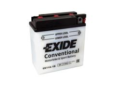 Motobaterie EXIDE BIKE Conventional 11Ah, 6V, 6N11A-1B (E5051)
