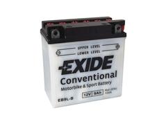 Motobaterie EXIDE BIKE Conventional 9Ah, 12V, YB9L-B (E5032)